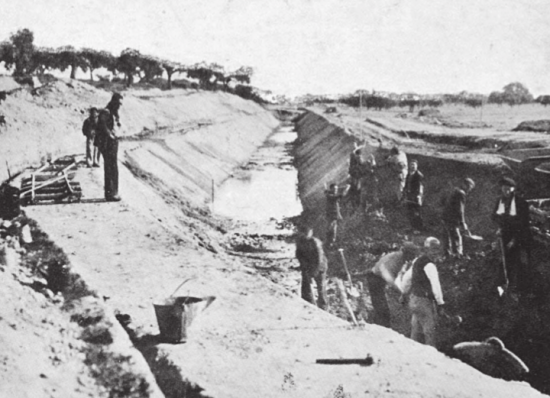 Fuente_ La construcción de la presa y el canal bajo del Alberche 1939-1950 (José Pérez Conde, 2013)