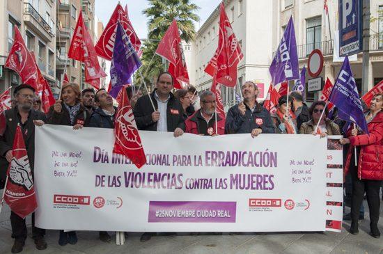 CCOO concentración servicios públicos y 25N 2