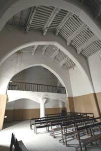 Interior de la Sinagoga de Híjar, actual Iglesia de San Antonio Abad