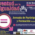 Miguelturra desarrollará la primera Jornada de Juventud por la Igualdad el sábado 18 de noviembre