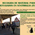 Ciudad Real: Recogen material para los refugiados en Ventimiglia (Italia)