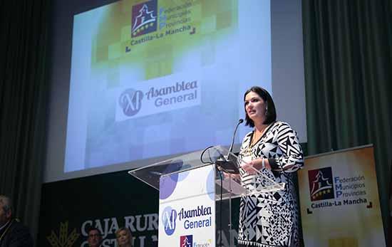 Toledo, 24-10-2015.- Mayte Fernández, elegida nueva presidenta de la FEMP-CLM en la XI Asamblea General de la Federación de Municipios y Provincias de Castilla-La Mancha, celebrada en Toledo. (Foto: Álvaro Ruiz // JCCM)