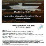 El Ayuntamiento de Villarrubia de los Ojos organiza este miércoles 20 una excursión a Las Tablas para disfrutar del espectáculo de las grullas