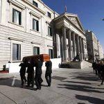 El Congreso abre la Puerta de los Leones para recibir los restos mortales del expresidente Manuel Marín