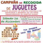 Ensayo solidario de la cuadrilla de costaleros del Cristo de la Caridad con recogida de juguetes