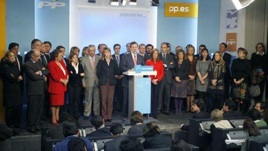 Los líderes del PP arropan a M. Rajoy (Fuente_ eldiario.es, 11.2.2009)