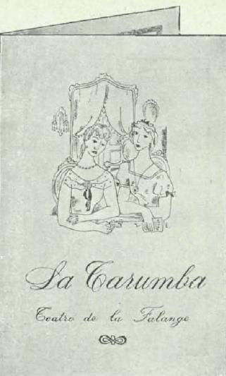 Programa de La Tarumba falangista (Y, 1.3.1938)