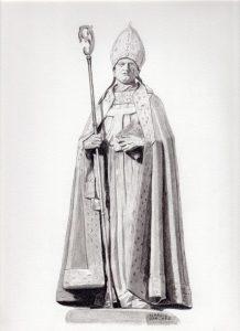 Arzobispo Alonso Carrillo de Acuña (Dibujo de Ignacio Sánchez García)