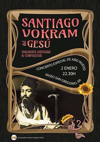 Puertollano el violinista santiago vokram act a esta for Concierto hoy en santiago