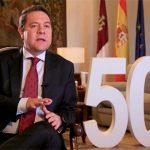 """El presidente García-Page valora """"la serenidad, la distancia justa con los problemas y, sobre todo, la cercanía"""" del Rey Felipe VI"""