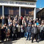 """Jubilados y mayores indignados se concentran en Puertollano ante la """"miserable subida"""" de las pensiones"""