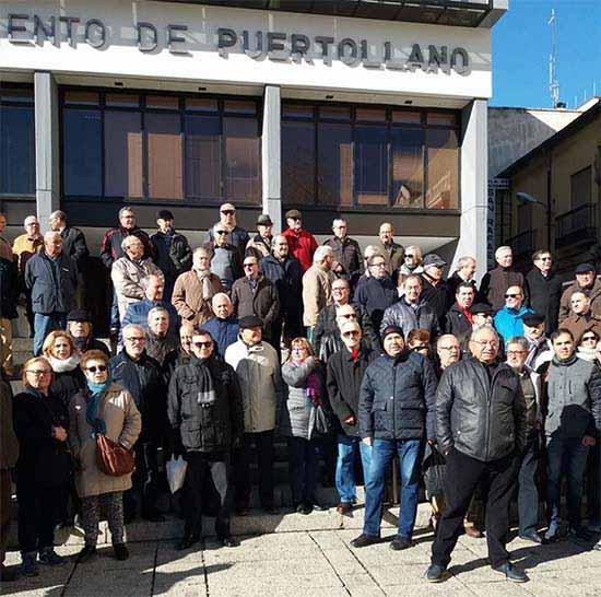 Una reciente concentración de jubilados en Puertollano (foto de archivo)