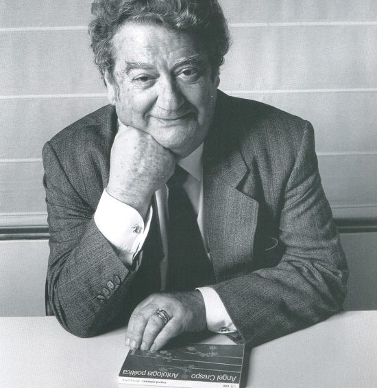 Ángel Crespo en la Residencia de Estudiantes de Madrid en 1994