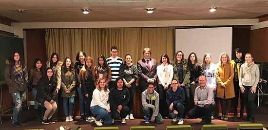 Agustin Espinosa visita alumnos EFA La Serna de Bolaños