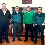 Los alcaldes de Calzada y Granátula de Calatrava se reúnen con el nuevo capitán de la Guardia Civil del puesto principal