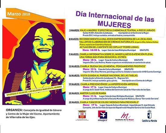 Villarrubia cartel del Dia de la Mujer bueno