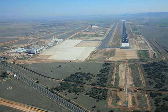 Vista aerea archivo aeropuerto Ciudad Real