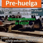 El Colectivo Estudiantil convoca una asamblea esta tarde para informar de la huelga del 21 de febrero