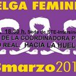 La coordinadora de la huelga feminista organiza asambleas informativas en Ciudad Real y Alcázar de San Juan