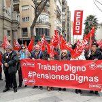 CCOO y UGT se movilizan para reclamar pensiones dignas y llaman a los pensionistas de hoy y de mañana a defender el sistema público
