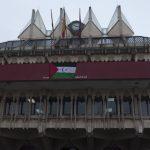 Ciudad Real: Una bandera en el balcón del Ayuntamiento recuerda el nacimiento de la República Árabe Saharaui Democrática