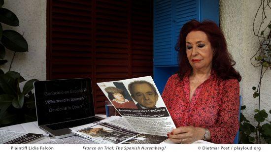 Lidia Falcón, demandante