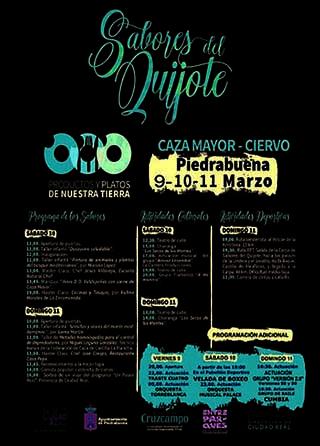 Cartel Sabores Quijote Piedrabuena 2018