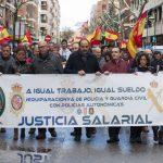 Policías y guardias civiles se manifiestan en Ciudad Real por la equiparación salarial con los cuerpos autonómicos
