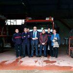 El presidente del SCIS visita el Parque de bomberos de Almadén donde próximamente se incorporarán nuevos efectivos