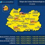Puertollano: Aviso amarillo durante el lunes por fuerte viento de hasta 80 kilómetros/hora