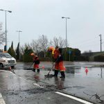 Jornada de persistente lluvia y servicio abnegado de Protección Civil