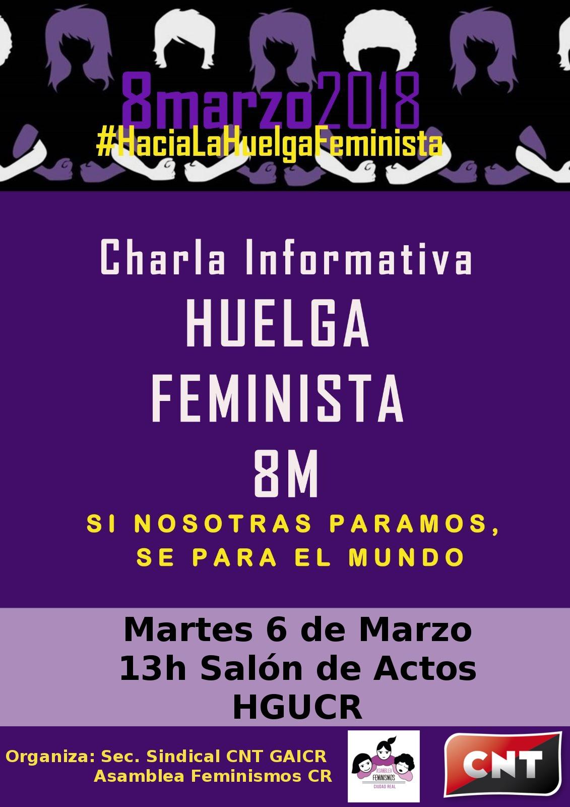 charla informativa huelga feminista