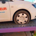 Once coches con las ruedas rajadas en Pozuelo de Calatrava