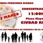 ¿Por qué hay dos manifestaciones el mismo día en Ciudad Real exigiendo pensiones dignas?