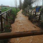 Valverde: Se inunda el parque y la carretera tras rebosar el arroyo