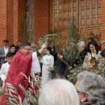 Más de cien vecinos de Villamayor de Calatrava han celebra hoy el Domingo de Ramos