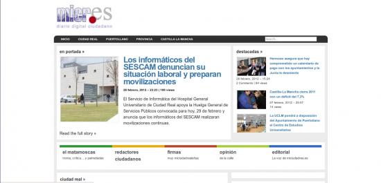 miciudadreal.es, 19.12.2012. Fuente: web.archive.org