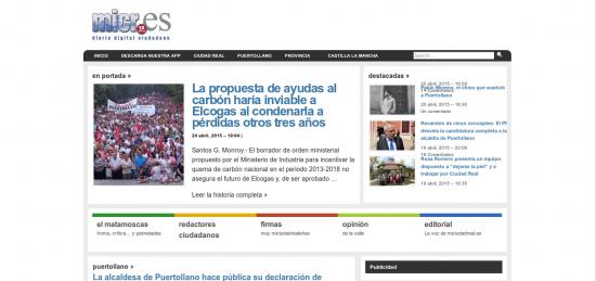 miciudadreal.es, 25.4.2015. Fuente: web.archive.org