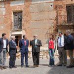 Gregorio visita las obras del Palacio de Clavería en Aldea del Rey