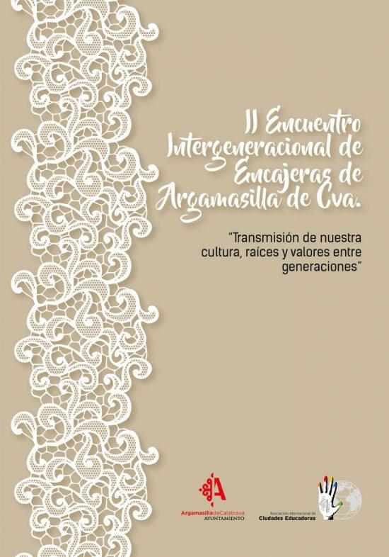 Cartel promocional del II Encuentro de Encajeras de Argamasilla de Calatrava