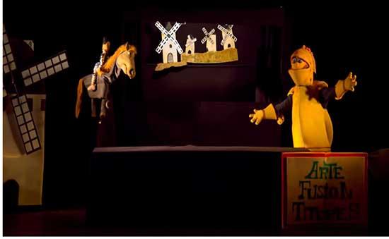 Villarrubia cartel titeres Quixote cabalga