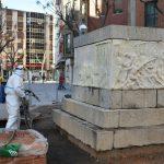 Ciudad Real: Limpieza a presión de los bajorrelieves