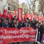 """CCOO y UGT vuelven a reclamar """"pensiones dignas"""" y rechazan """"los parches para unos pocos"""""""