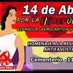 Homenaje a la resistencia antifranquista para conmemorar la proclamación de la II República