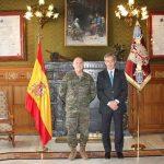 Eurocaja Rural realiza una visita institucional al Teniente General del CGTAD