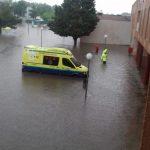 Inundaciones en Valdepeñas por las tormentas