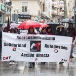 La CNT no se amilana por la lluvia del 1º de Mayo