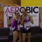 Los puertollaneros Agustín González y Alba Bernal vuelven a proclamarse subcampeones de España de gimnasia aeróbica