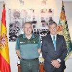 Eurocaja Rural visita al General Jefe de la Guardia Civil de la VI Zona de Valencia