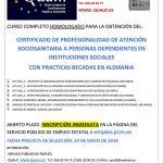 Curso gratuito para el certificado de profesionalidad de atención sociosanitaria a dependientes en instituciones sociales